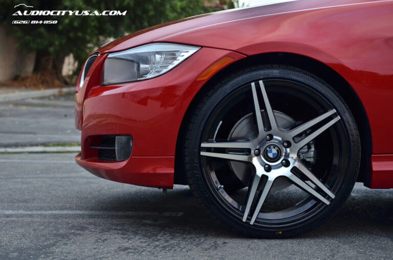 20″ AZAD 5120 Wheels black machine **DEEP CONCAVE** on 2011 BMW 328 I