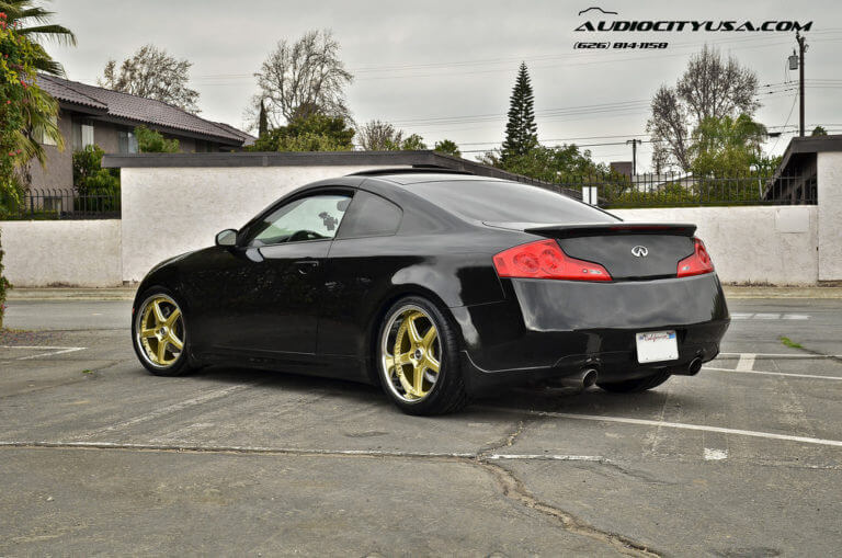 19″ Vertini Drift Gold | 2005 Infiniti G35 Coupe | Eibach Springs | Hankook Ventus V 12