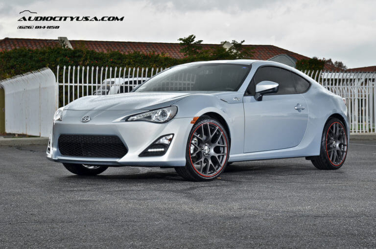 2013 Scion FRS on 19″ TSW Nurburgring Gun Metal wheels