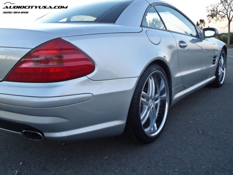 2003 Mercedes Benz SL 500 | 20″ XIX X15 Silver Machine Face W/ Chrome SS Lip