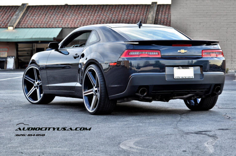 2014 Chevy Camaro RS | 24″ IROC WHEELS Black Machined Rims | AudioCityUSA