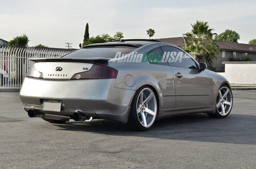 Infiniti G35 Coupe On 20 Str Wheels 607 Silver Deep Concave
