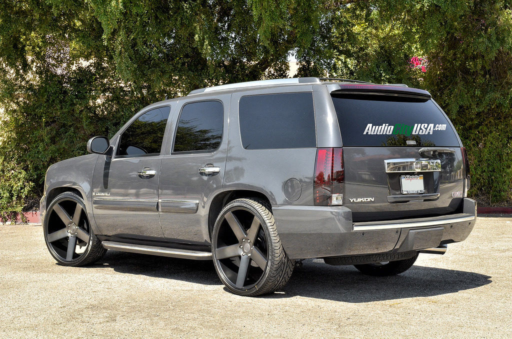 26 Dub Wheels Ballers S116 Black W Machine Dark Tint On 2009 Gmc Yukon Denali Blg082316 Audio City Usaaudio City Usa