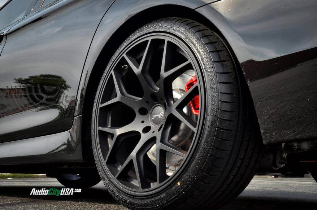 "20"" Gianelle Wheels Puerto Matte black on 2013 BMW 535 i ..."