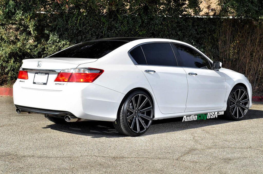 "2014 Honda Accord Sedan on 20"" Gianelle Wheels Santoneo matte black with ball cuts ..."