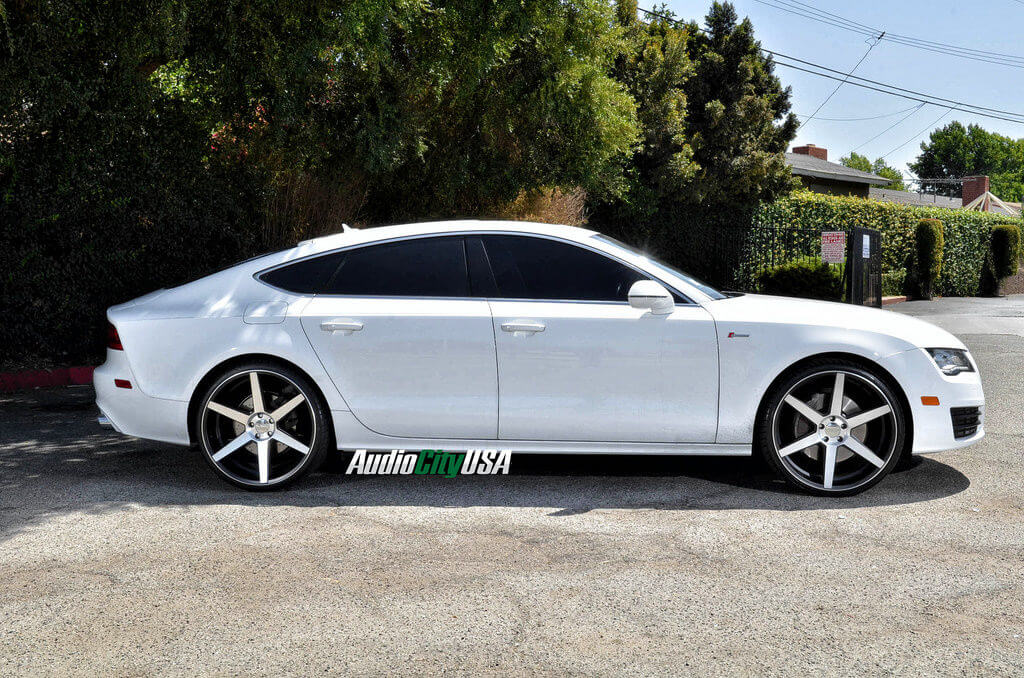 2013 Audi A7 On 22 Quot Azad Wheels Z84 Black Machine Wheels