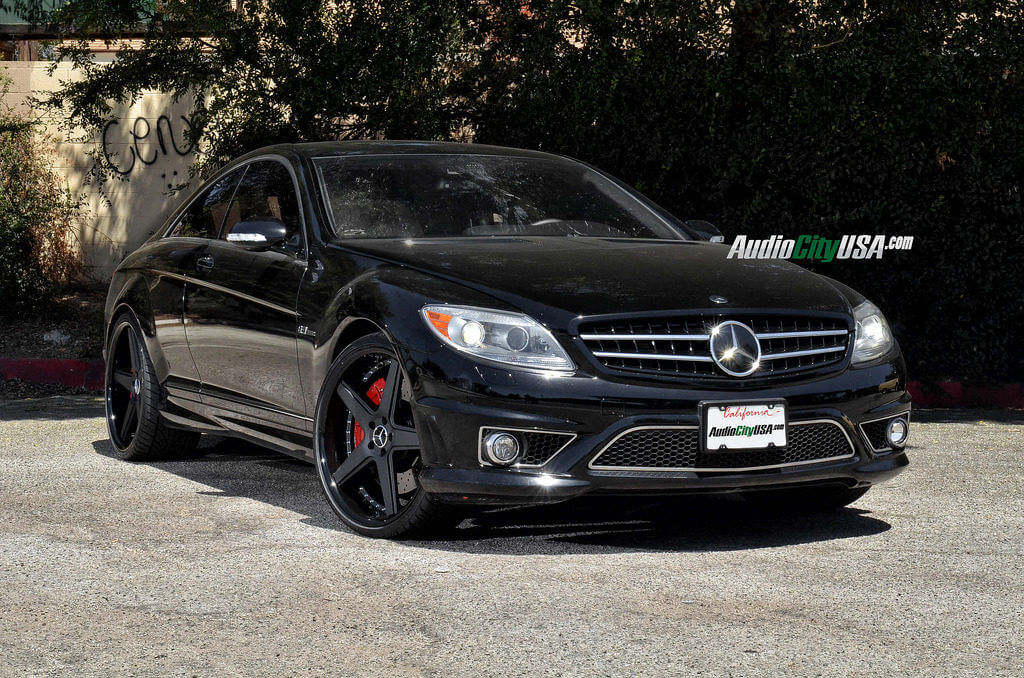 "2008 Mercedes CL63 AMG with 22"" AZAD Wheels A008 Matte ..."