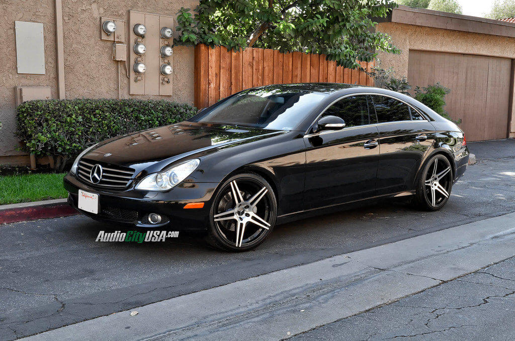 2007 mercedes benz cls 550 on 20 azad wheels 5120 black for 2007 mercedes benz cl 550