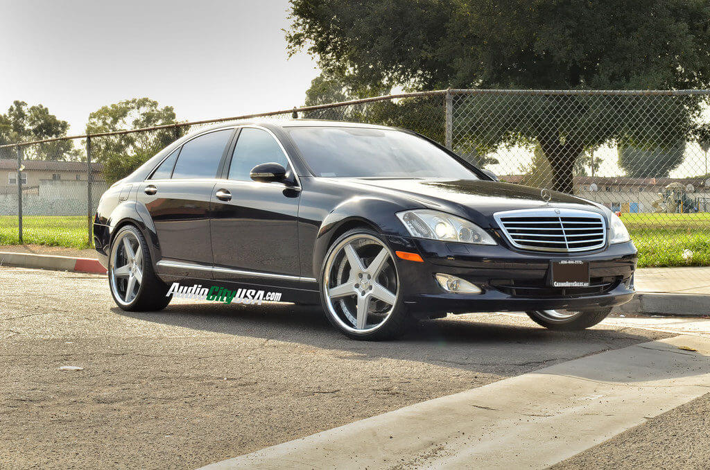 2009 Mercedes Benz S 550 On 22 Quot Azad Wheels A008 Silver