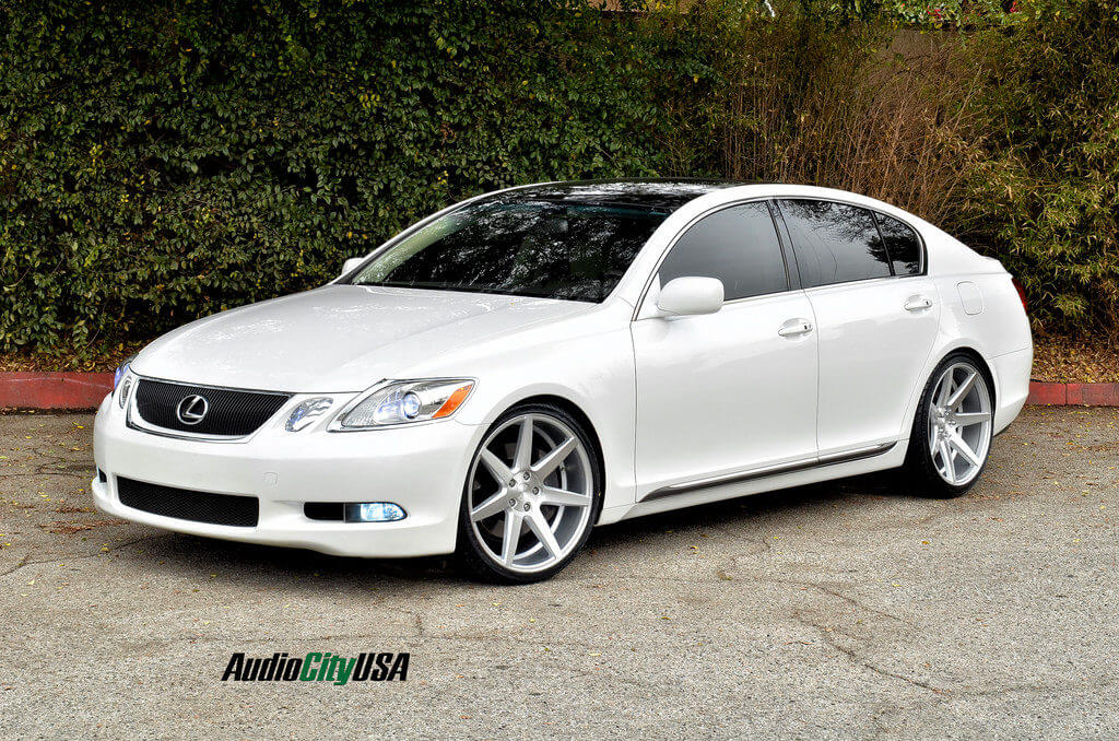 2008 lexus gs 350 on 20 rennen wheels crl 70 brush silver. Black Bedroom Furniture Sets. Home Design Ideas
