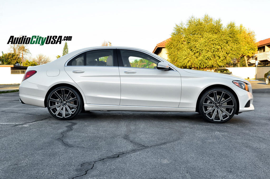 2015 mercedes benz c 300 w205 on 20 gianelle wheels for Mercedes benz tire sizes