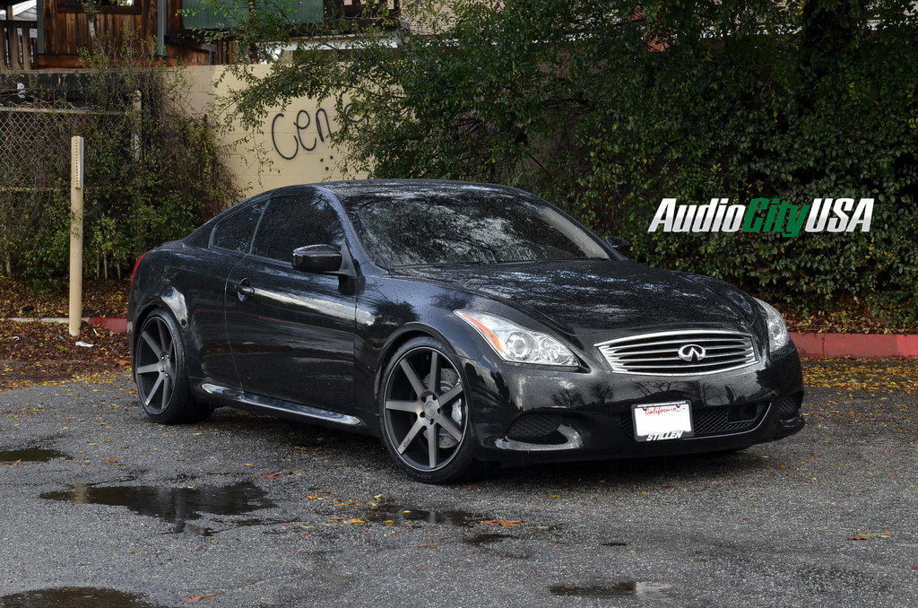 2011 infiniti g37 coupe on niche wheels verona m150 black. Black Bedroom Furniture Sets. Home Design Ideas