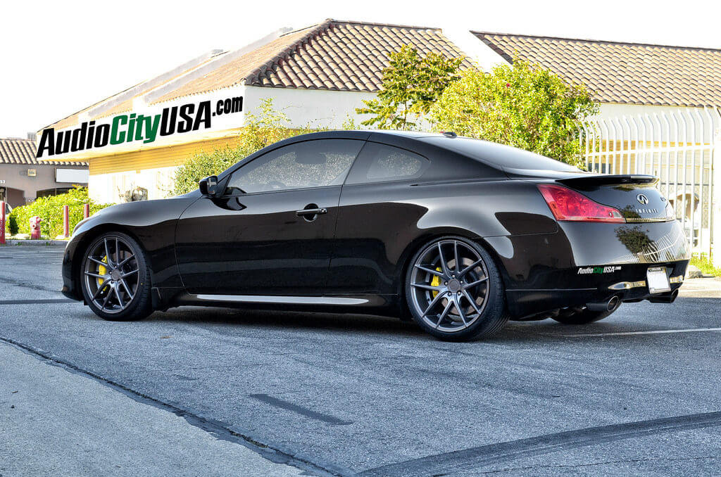 2011 Infiniti G37 Coupe On 20 Niche Wheels Targa Matte Black Deep Concave Rims Blg082516 Audio City Usaaudio City Usa