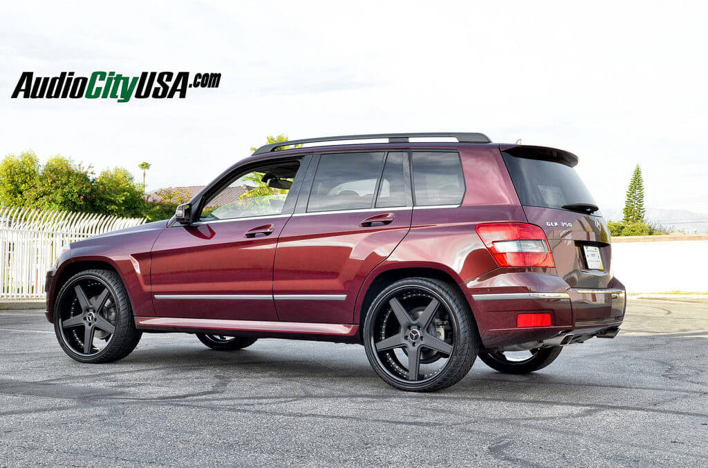 2011 Mercedes Benz Glk 350 On 22 Quot Azad Wheels A008 Matte Black Face Glossy Black Lip Wheels