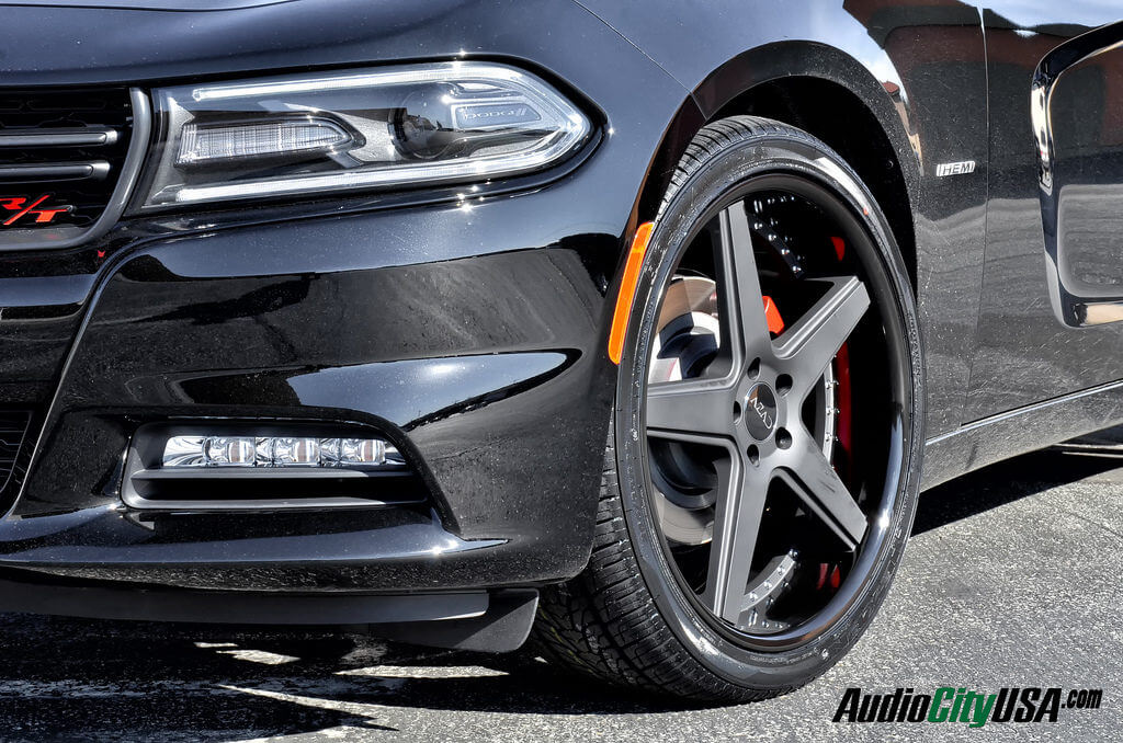 "Rt 22 Toyota >> 2015 Dodge Charger RT on 22"" Azad wheels a008 matte black face, Glossy black lip rims ..."