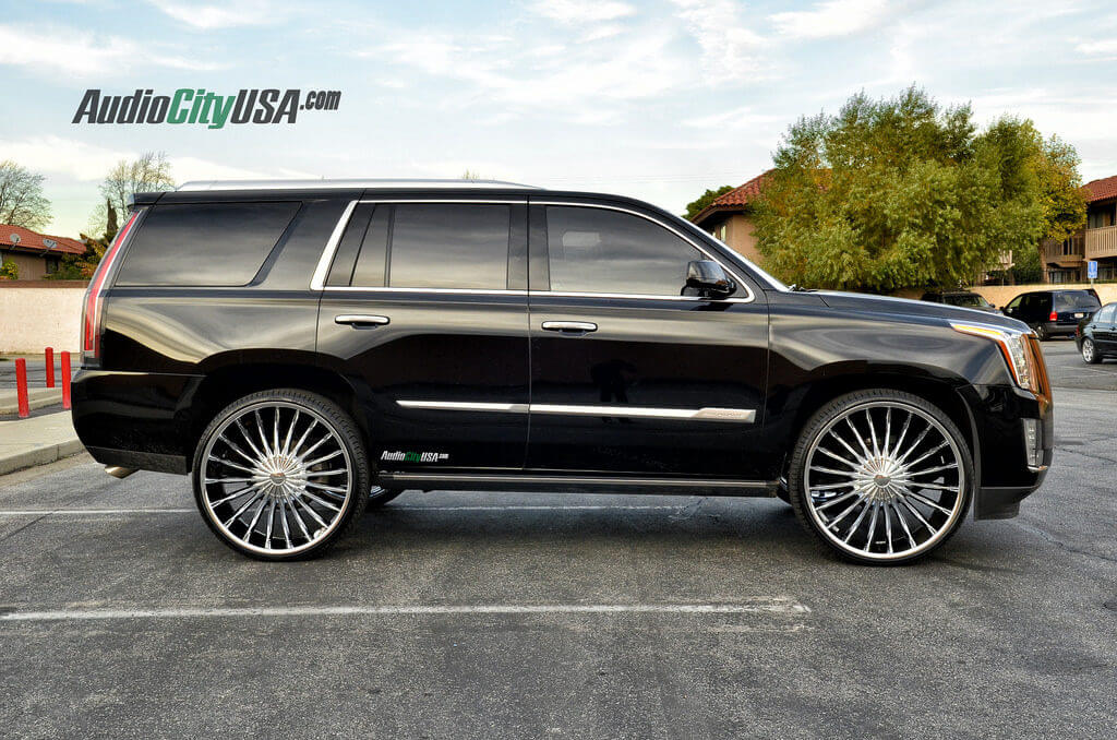 2015 cadillac escalade on 28 velocity wheels vw 11 chrome. Black Bedroom Furniture Sets. Home Design Ideas