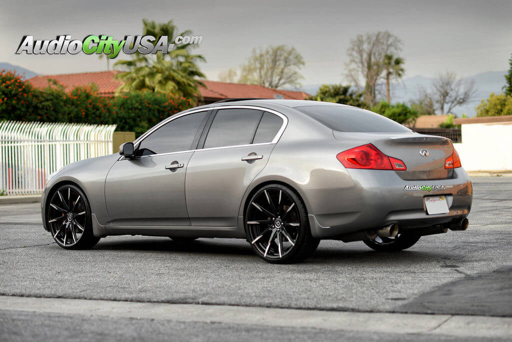 2007 infiniti g35 sedan on 22 lexani wheels css 15 mbt. Black Bedroom Furniture Sets. Home Design Ideas
