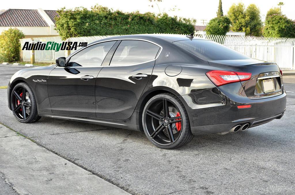 2014 Maserati Ghibli Q4 On 22 Gianelle Wheels Lucca Matte Black