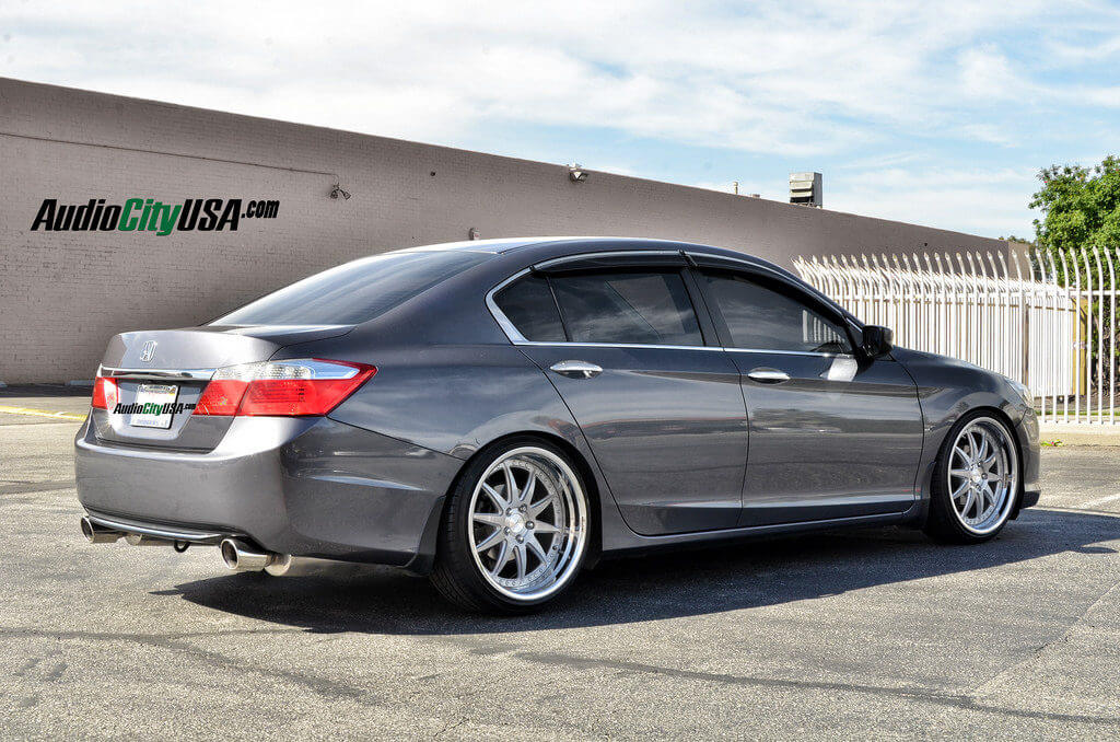 2013 honda accord on 20 rennen csl 1 brush face chrome step lip lowered on k sport coilovers. Black Bedroom Furniture Sets. Home Design Ideas