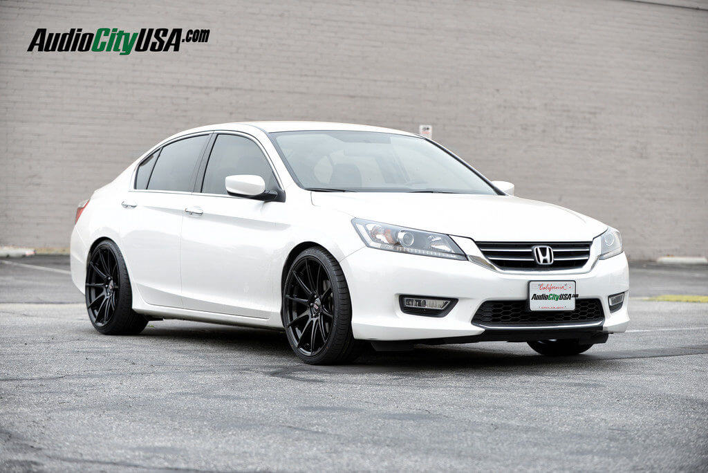 "2013 Honda Accord on 20"" STR Wheels 524 Glossy black ..."