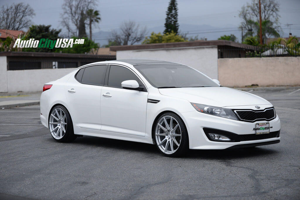kia optima niche essen wheels m146 silver springs lowered staggered tires wheel 20x8 wrapped tire tuning