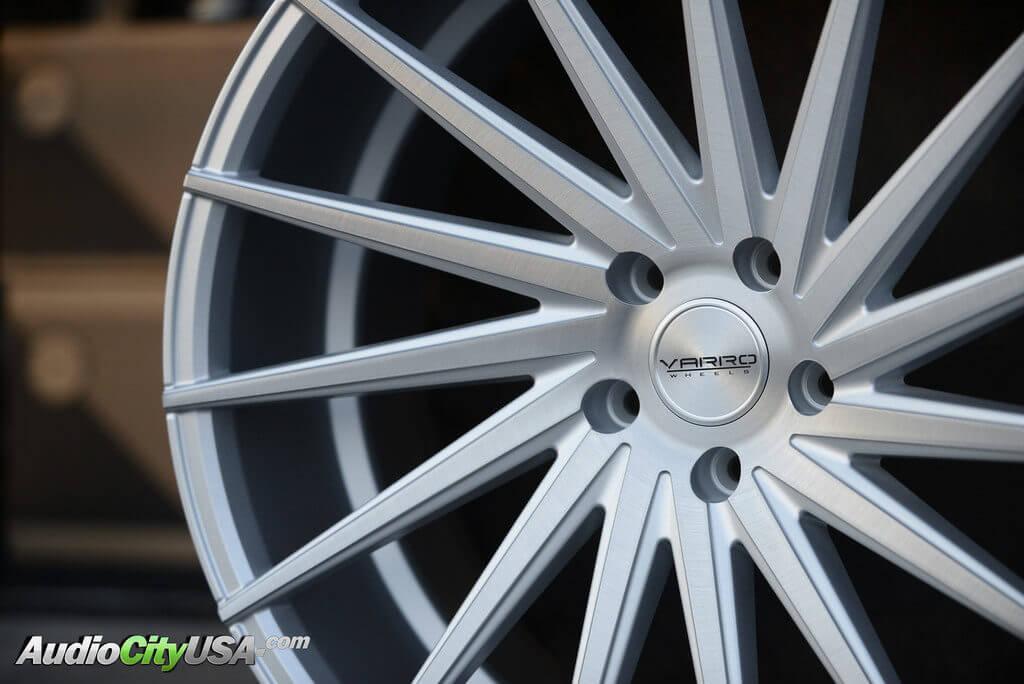 "20"" Varro Wheels VD 15 Brush Silver Concave series"