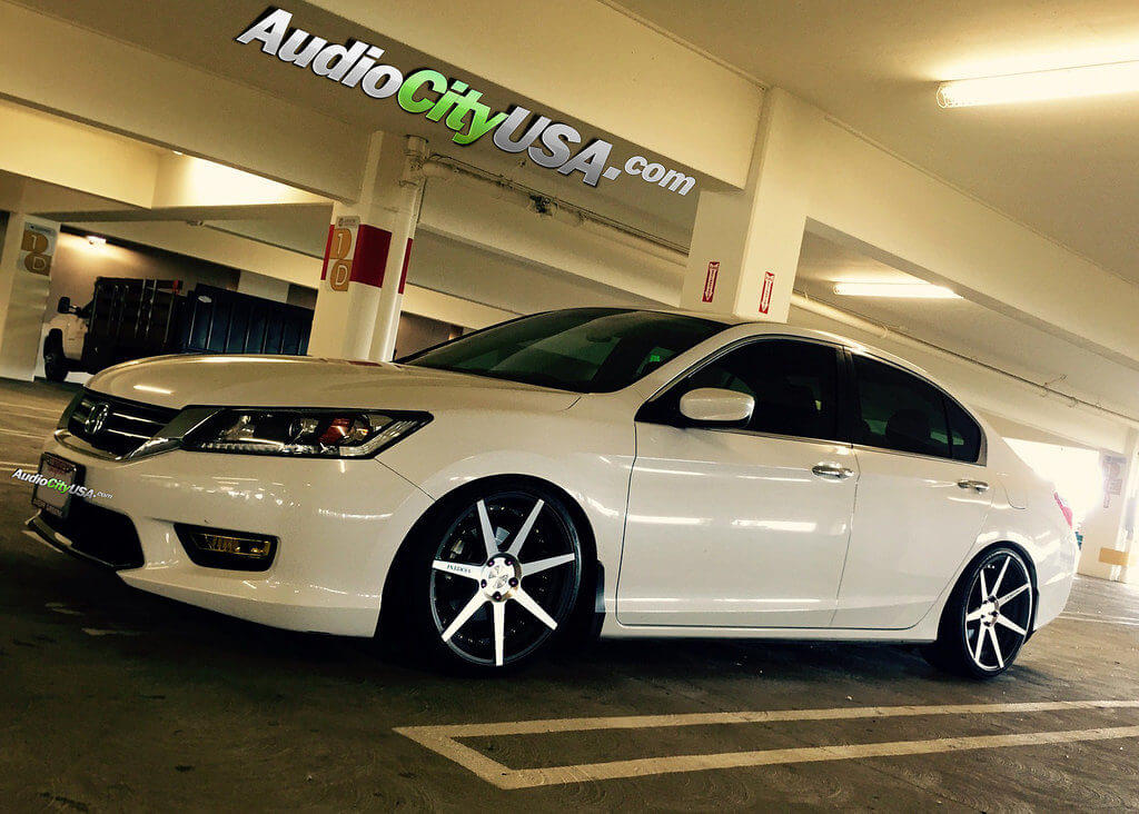 2014 Honda Accord Sedan 19 Vertini Wheels Dynasty Slate Grey
