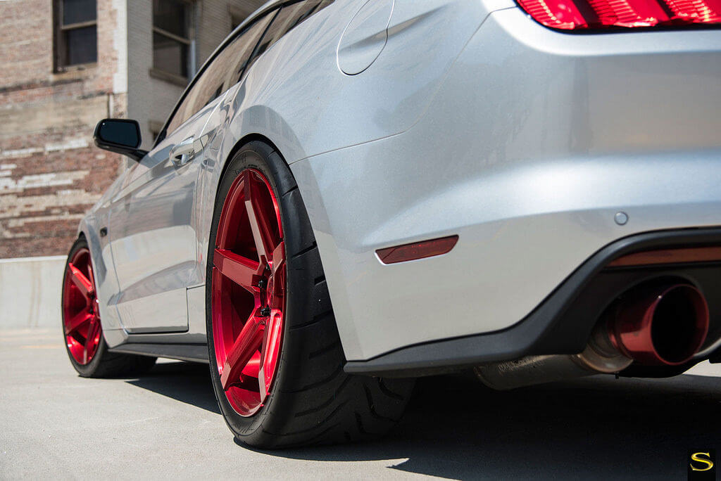 "Infiniti Usa Com >> 2015 Ford Mustang GT 5.0 on 20"" Savini BM 11 wheels, Rims Brushed Red wrapped Toyo Tires - BlogBlog"
