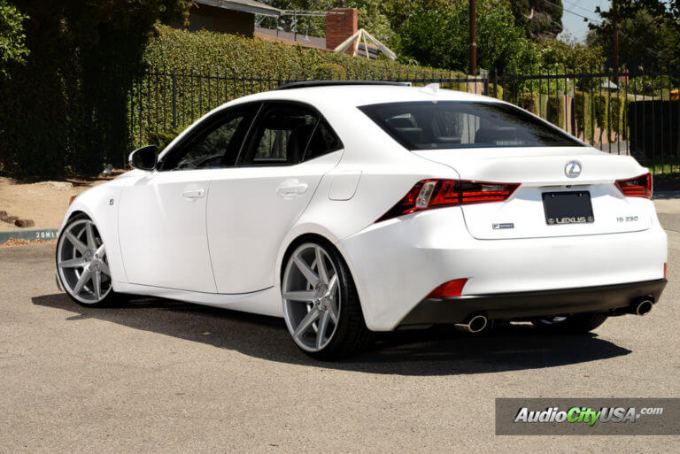 2015 Lexus IS 250 F-Sport | 20″ Rennen Wheels CRL 70 Silver Brushed Rims | Lowerd RSR Springs | AudioCityUSA