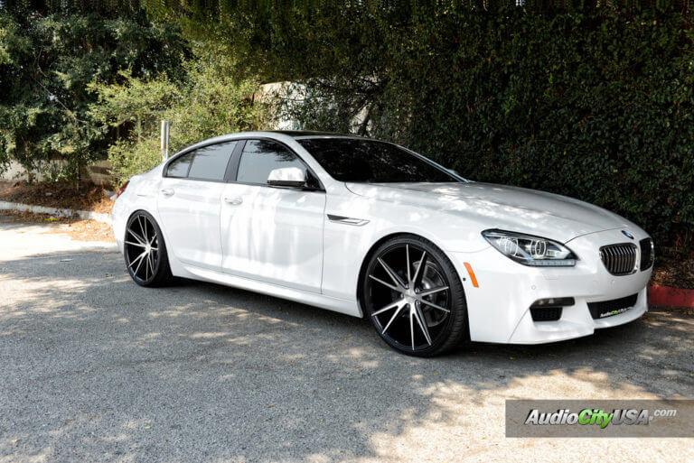 2015 BMW 640 I ///M Pkg on 22″ Zenetti Wheels Venice Brush Silver Gloss black rims Deep Concave
