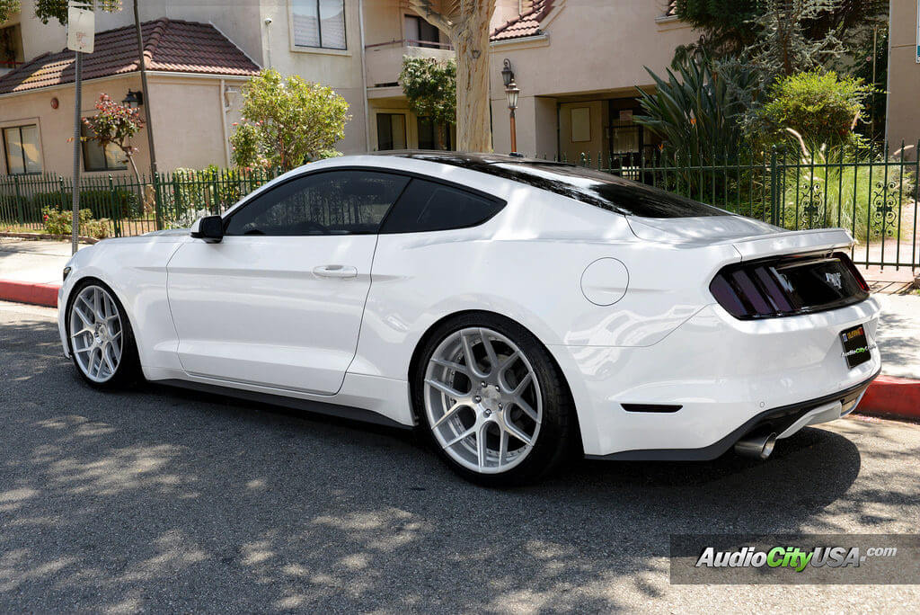 2015 Ford Mustang On 20 Quot Rennen Wheels Csl 4 Silver