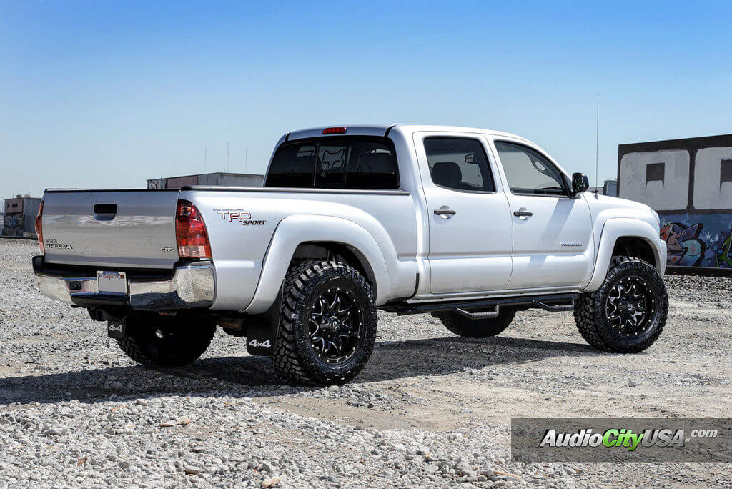 toyota tacoma trd 18 fuel wheels lethal d567 nitto trail grappler tires audiocityusa. Black Bedroom Furniture Sets. Home Design Ideas