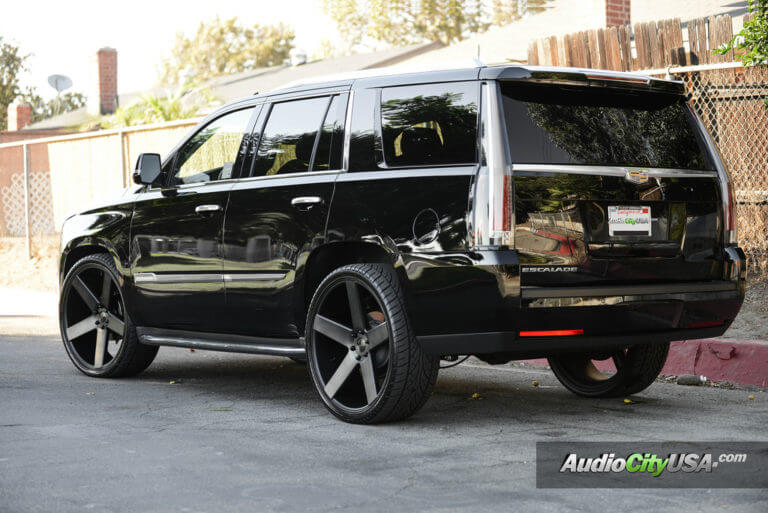 2015 Cadillac Escalade | 26″ DUB Baller S116 Matte Black Machined with Double Tint Face