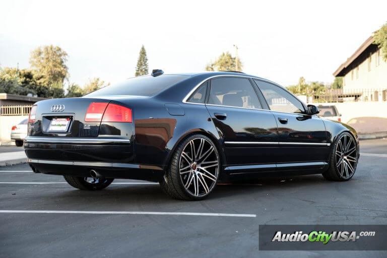 22″ Curva Wheels C48 Black machine deep concave   Audi A8   AudioCityUsa