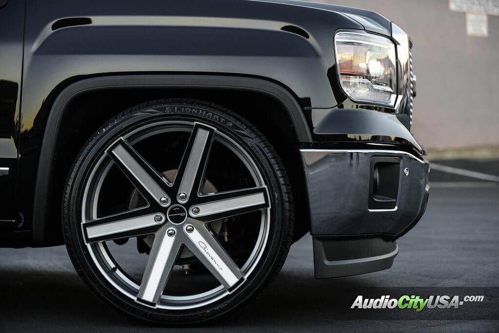 "Gmc 1500 Denali >> 2015 GMC Sierra 1500 | 26"" Giovanna Wheels Dramuno-6 Anodized Custom Finish Rims | AudioCityUSA ..."