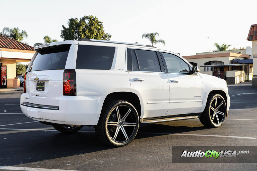 2015 chevy tahoe 24 versante wheels vt 228 black. Black Bedroom Furniture Sets. Home Design Ideas