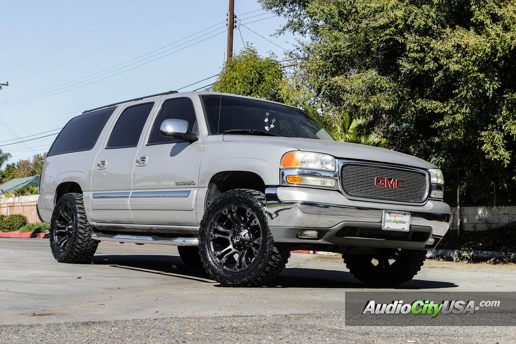 20 Fuel Wheels D569 Vapor Black Machined With Dark Tint Off Road Rims Pro Comp Suspension Leveling Kit 33x12 50x20 Lionhart Lionclaw M T Tires 2004 Gmc Yukon Xl Blg021319