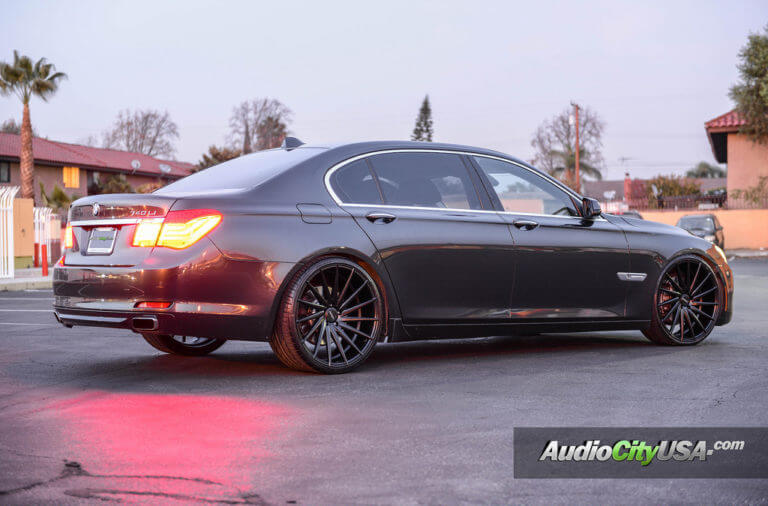 2011 BMW 740 li | 22″ Varro Wheels VD 15 Matte black finish rims | AudioCityUsa
