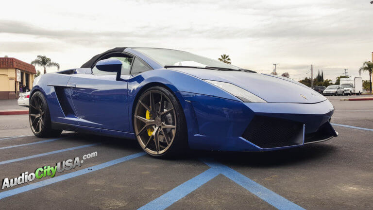2012 Lamborghini Gallardo LP550 | 20″ VERDE Wheels V99 Axis Gloss Bronze Rims | AudioCityUSA