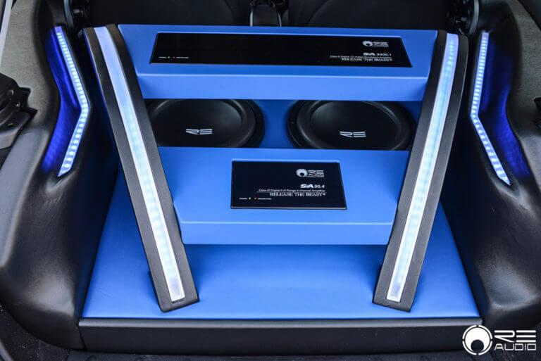 Re Audio Build | AudioCityUsa | 12″ RE Audio SE | RE Audio SA Amplifiers