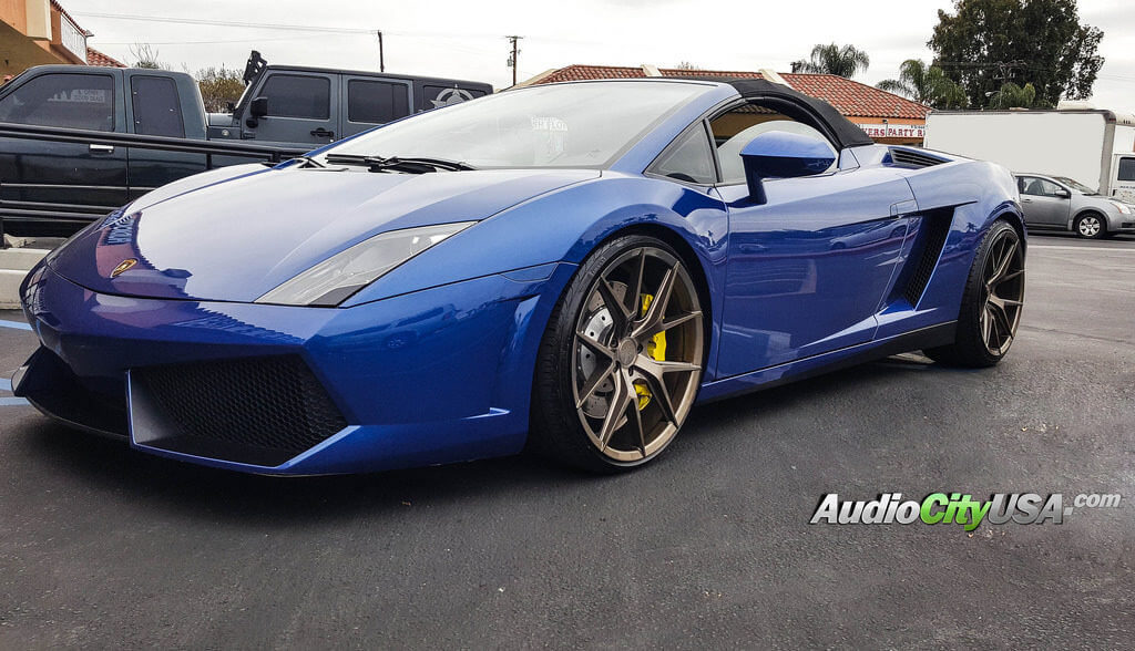 2012 Lamborghini Gallardo Lp550 20 Verde Wheels V99 Axis Gloss