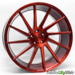 64ed76823e6 22″ Niche Wheels Surge in a Custom painted Brushed Candy Apple Red