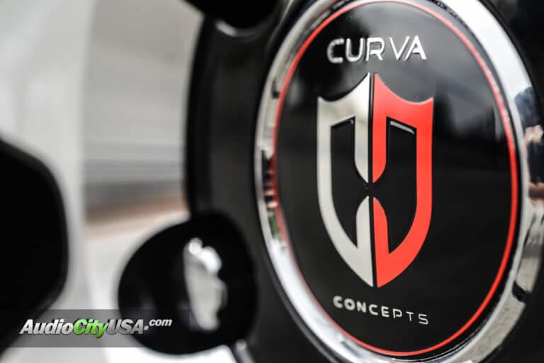 Chevy Camaro   22″ Curva Wheels C47 black machine   AudioCityUsa