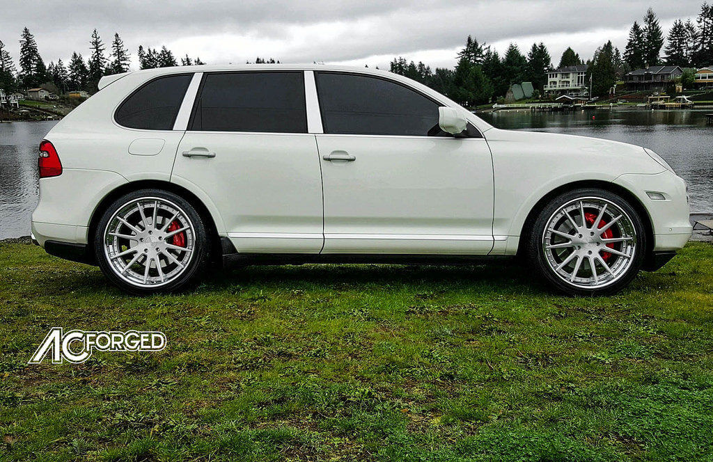 "Twin City Subaru >> Porsche Cayenne Twin Turbo | 22"" AC Forged Wheels ACR 316 brush Silver face | Nexen Tires ..."