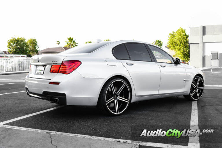 2012 BMW 750i | 22″ Giovanna-Gianelle Wheels Lucca Black Machined Rims | AudioCityUSA