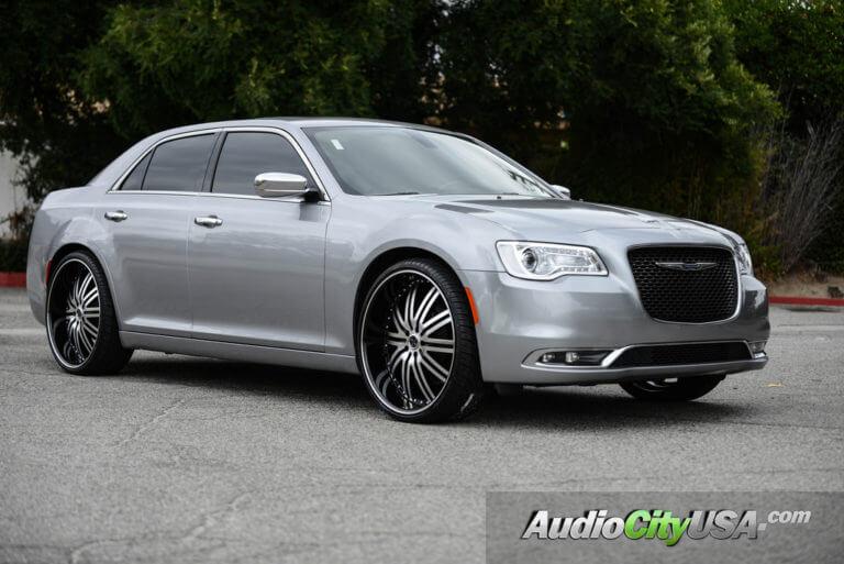 2015 Chrysler 300 | 24″ Versante Wheels 212 Black Machine Rims | AudioCityUSA