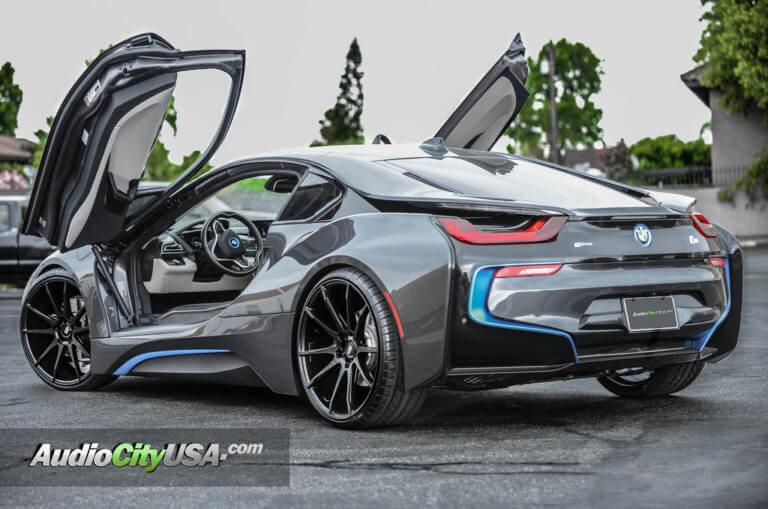 2016 BMW I8 | 22″ Savini Wheels BM 12 Matte black | AudioCityUsa