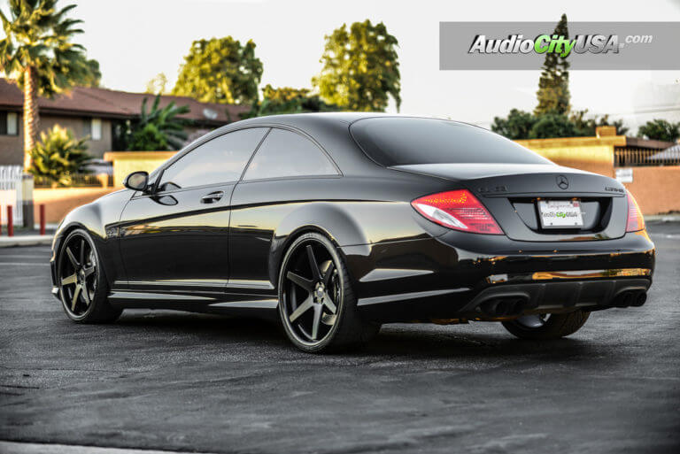 Mercedes Benz CLS 63 AMG | 22″ Concept One Wheels CS-6 Matte black | Deep Concave | AudioCityUsa