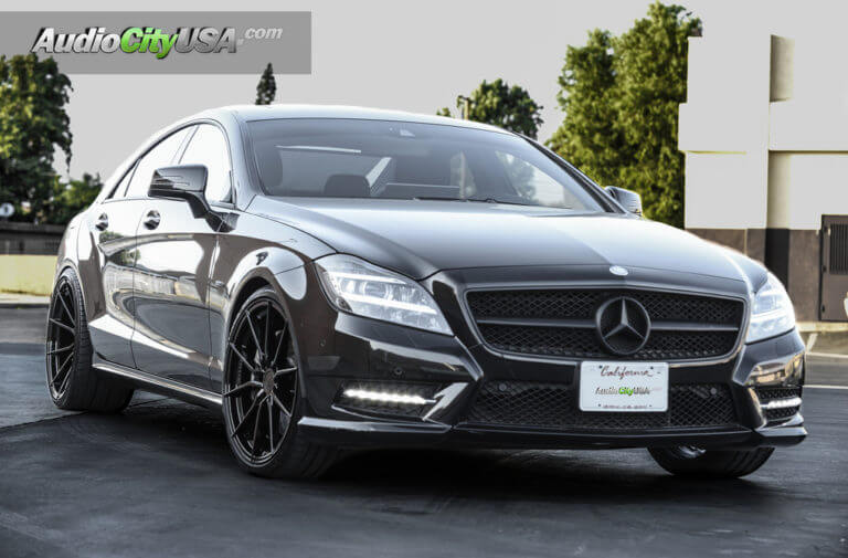 2012 Mercedes Benz CLS 550 | 20″ Vertini Wheels RF 1.2 Glossy black | Toyo Proxies | AudioCityUsa
