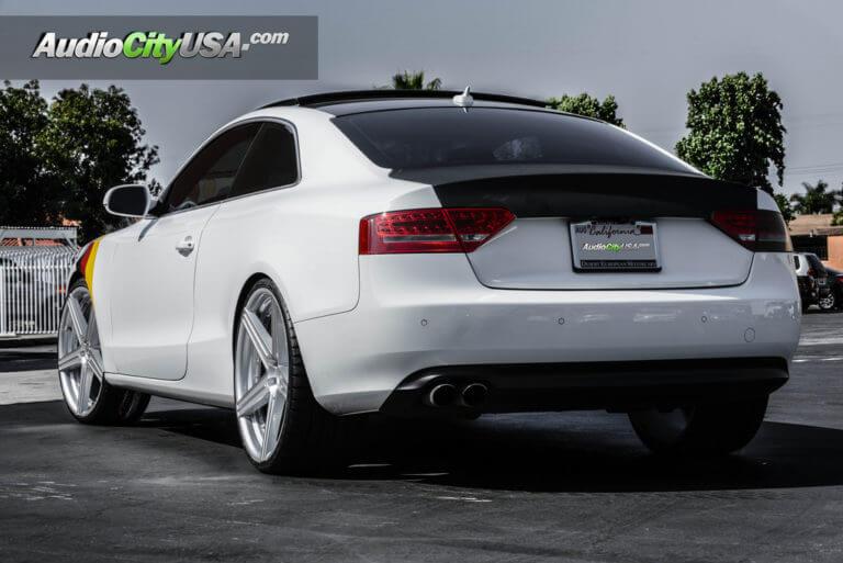 Audi A5 Quattro | 22″ Giovanna Wheels Dublin 5 Silver machine rims | AudioCityUsa